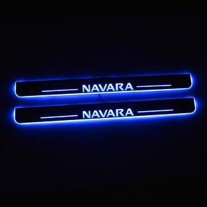 Image 1 - Đèn LED Gắn Cửa Dành Cho Xe Nissan Navara NP300 2015 2016 2017 2018 Cửa Scuff Đĩa Con Đường Bàn Đạp Ngưỡng Hoan Nghênh Bạn Đã Đèn Xe Ô Tô phụ Kiện