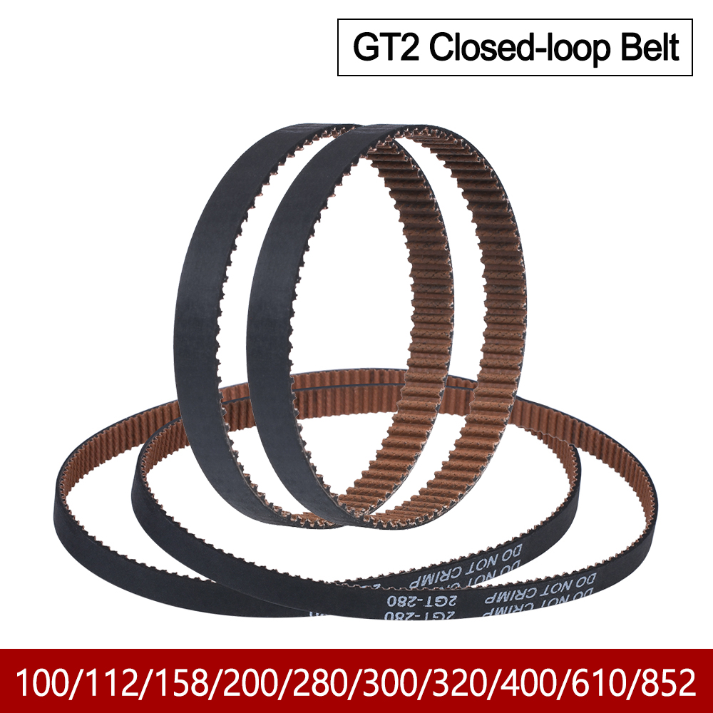 High Quality GT2 Closed Loop Timing Belt Rubber With Anti-Slip 2GT 6mm 110 280 852mm Synchronous Belts 3D Printers Parts