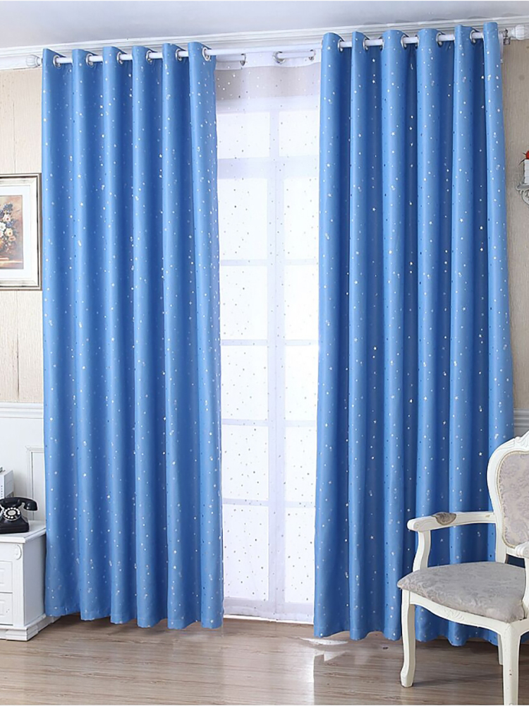 Blackout Curtains Drapes Short Fabric Window-Treatments Tulle Bedroom Living-Room Silver