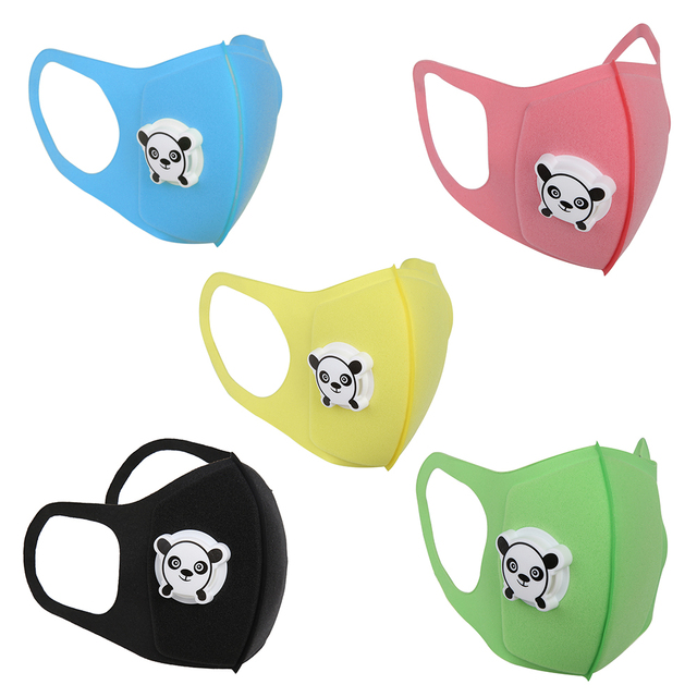 Outdoor Kids Mask Cartoon Print Mouth Cover Dustproof Breathable Face Nose Filter Cover Hiking Climbing Sports Runing Bike baby