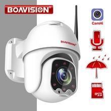 كاميرا 1080P لاسلكية صغيرة PTZ IP واي فاي قبة سرعة 2MP CCTV كاميرا IP الأمن ONVIF في الهواء الطلق IR 30M اتجاهين الصوت P2P APP CamHi