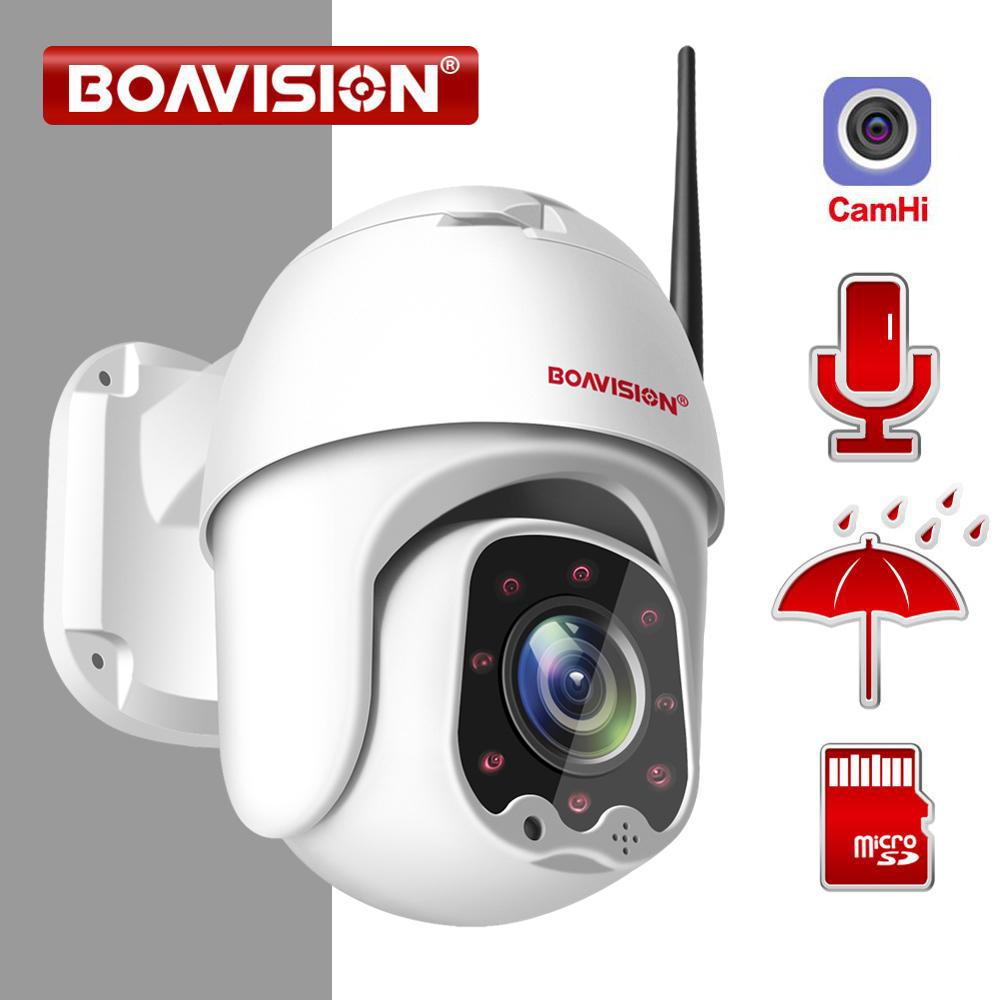 1080P Wireless MINI PTZ IP WIFI Camera Speed Dome 2MP CCTV Security IP Camera ONVIF Outdoor IR 30M Two Way Audio P2P APP CamHi|Surveillance Cameras|   - AliExpress