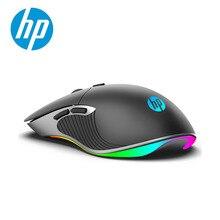 HP מקצועי משחקי עכבר 6400 4800 3200 2400 DPI חוטית RGB צבעוני LED מאקרו ארגונומי עכברים מחשב PC Gamer עבור LOL CS