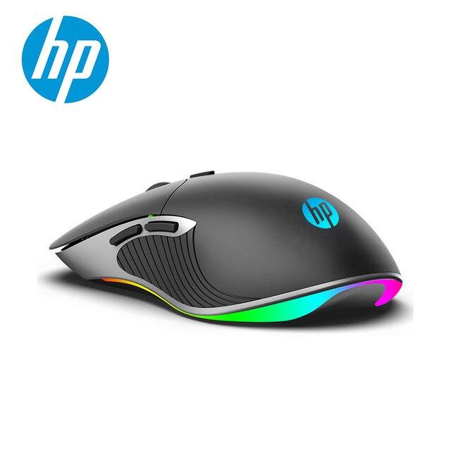 HP ratón profesional para videojuegos 6400, 4800, 3200, 2400 DPI, RGB, con cable, LED de colores, Macro, ergonómico, para LOL CS