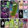 Rick Morty Cartoon etui na telefon iphone 4 4s 5 5S SE 5C 6 6S 7 8 plus X XS XR 11 12 mini Pro Max 2020 czarny shell trend zderzak