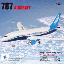 DIY Remote Control Aircraft EPP RC Drone Boeing 787 2.4G 3Ch RC