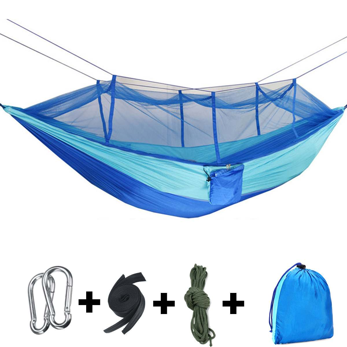Portable Outdoor Camping Hammock With Mosquito Net Outdoor Travel Camping Picnic Adult Single Double Person Hanging Hammock Bed