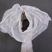 Voile de danse du ventre 100% soie, couleur unie, Texture légère, châles, écharpe, accessoires pour Costumes, 250cm x 110cm