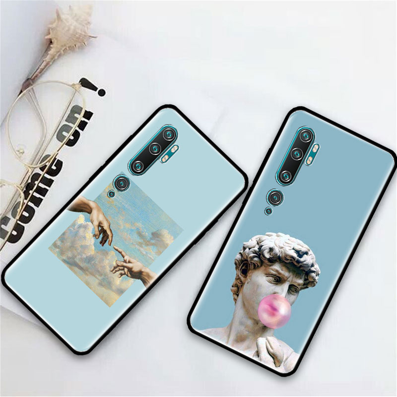 Alternative Statue Case For Xiaomi Mi Note 10 9 CC9 9T Pro 5G CC9E 8 A3 A2 Lite X2 F1 Black Soft Bags Phone Cover