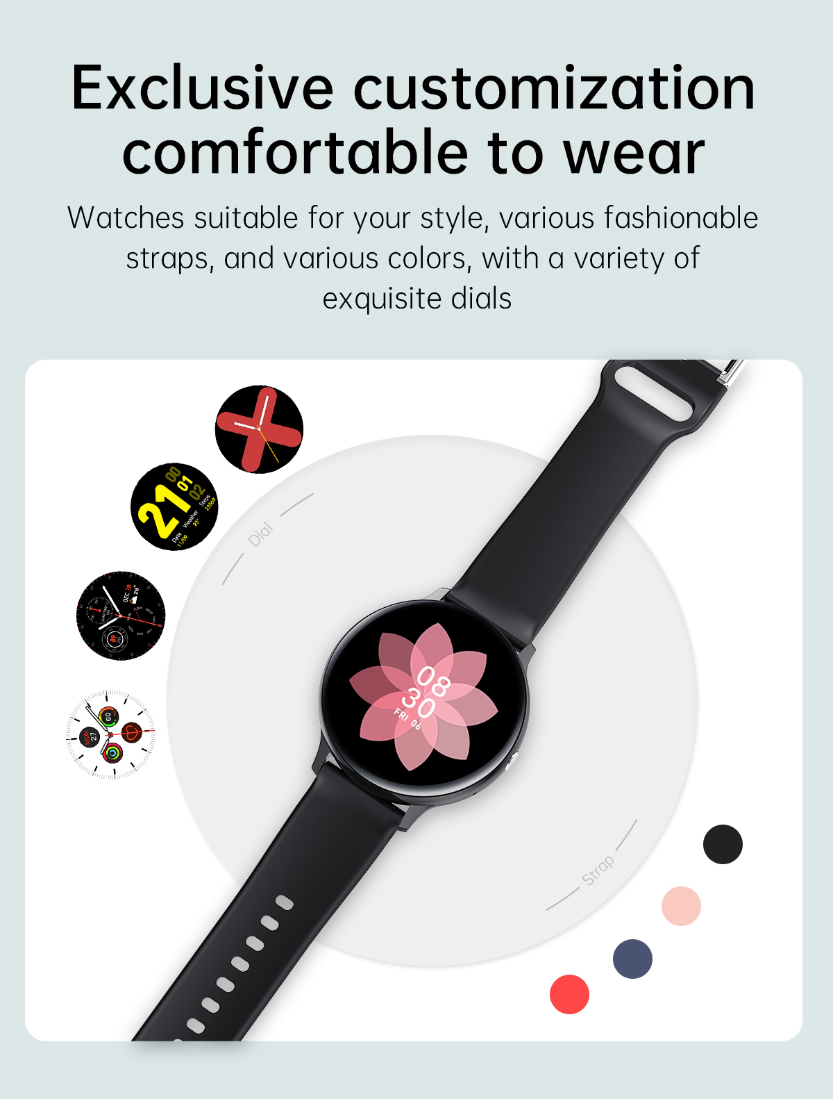 Heb94dc26d83145b89aaacaf5ae936db5c LIGE 2021 New Bluetooth call smart watch men women Sport mode Heart rate and blood pressure monitor Activity tracker Smartwatch