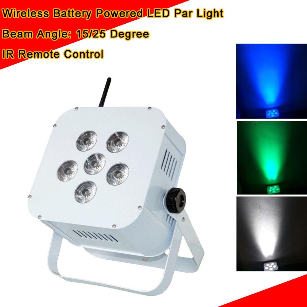 6X10W RGBW sans fil DMX batterie montante fonctionner Dj LED Par peut laver la lumière Disco mariage montantes Disco décorations de fête DJ