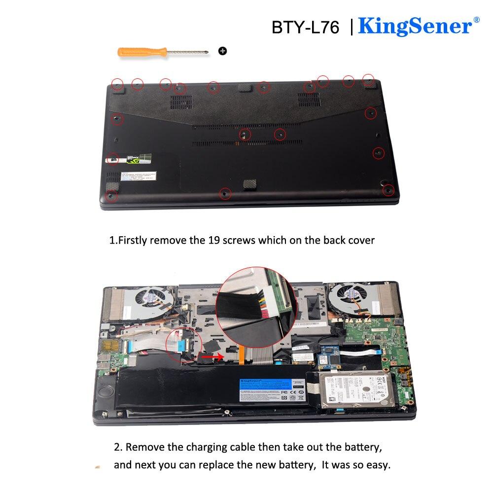 KingSener BTY-L76 Batterie Pour MSI GS70 2OD 2PC 2PE 2QC 2QD 2QE GS72 MS-1771 MS-1772 MS-1773 MS-1774 Pour MEDION X7613 MD98802 - 6