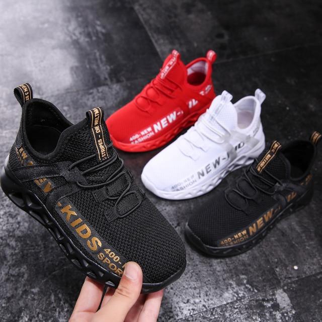 Zapatillas de malla para niños, zapatos ligeros, informales, transpirables, antideslizantes, size26-39 1