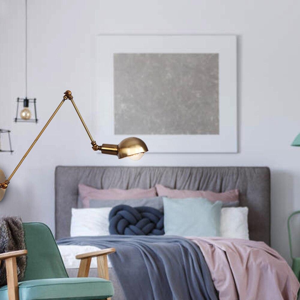 ajustavel do vintage lampada parede quarto estudo 03
