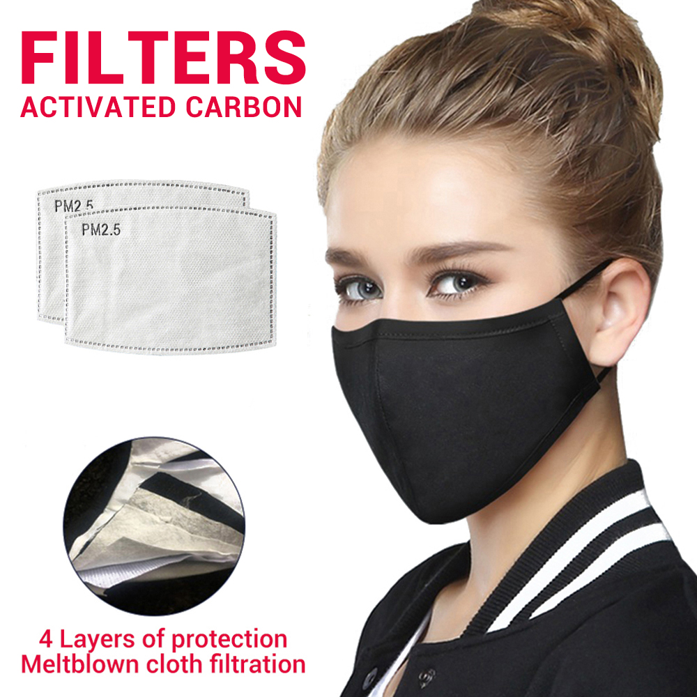 Unisex Face Mask Mouth Caps Respirator Cotton Anti Dust Pollution Activated Carbon Filter Protective Mask Reusable