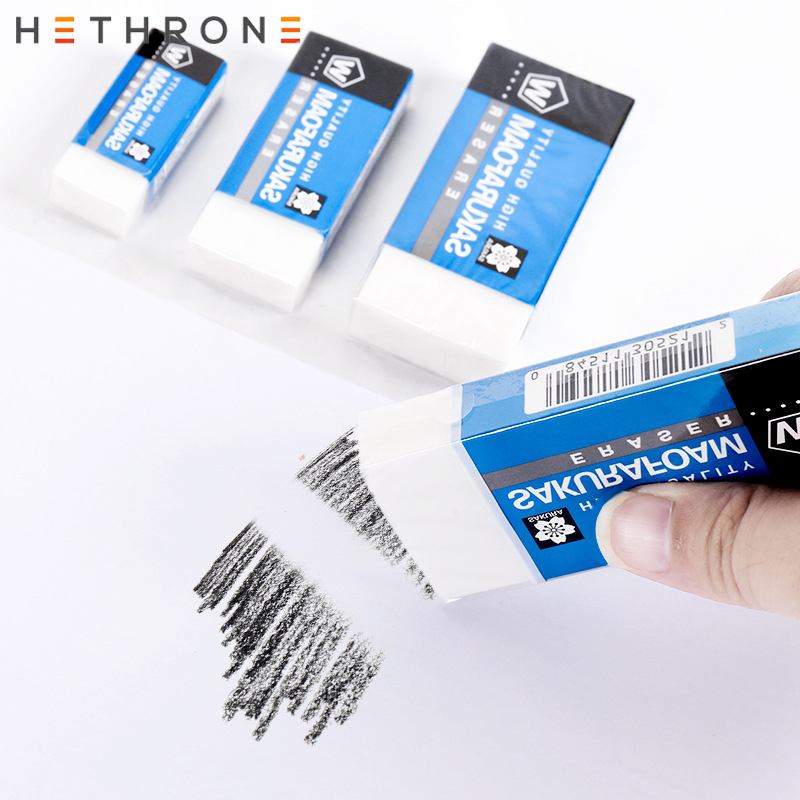 Hethrone 1Pcs Soft Rubber 2B Pencil Eraser Student Art Sketch Painting Correction Supplies School Exam Writing Eraser Stationery