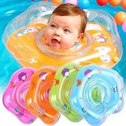 Детские аксессуары для плавания, кольцо для шеи, безопасная трубка для младенцев, круг для купания, надувной фламинго, Прямая поставка воды
