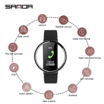 2020 SANDA Super Slim Smart Watch Men IP67 Waterproof Sports Smartwatch Heart Rate Monitor Fitness Bracelet reloj Intelligente