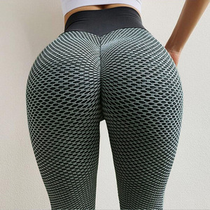 Image 2 - Women Workout Fitness Leggings Femninia High Waist leggins Mujer Quick Drying Sportswear Ladies Polyester Casual leggings Women