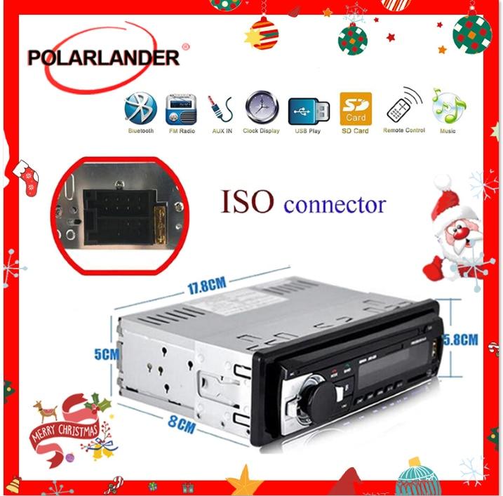 1 DIN Car Radio Car Audio FM Bluetooth MP3 Audio Player Bluetooth Cellphone Handfree USB/SD Car Stereo Radio In Dash Aux Input