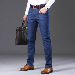 Image 3 - Jantour 2019 Nieuwe Mannen Warme Jeans Hoge Kwaliteit Beroemde Merk Winter Jeans Warme Massaal Warme Fleece Soft Heren Jeans Mannelijke 35 40 Size