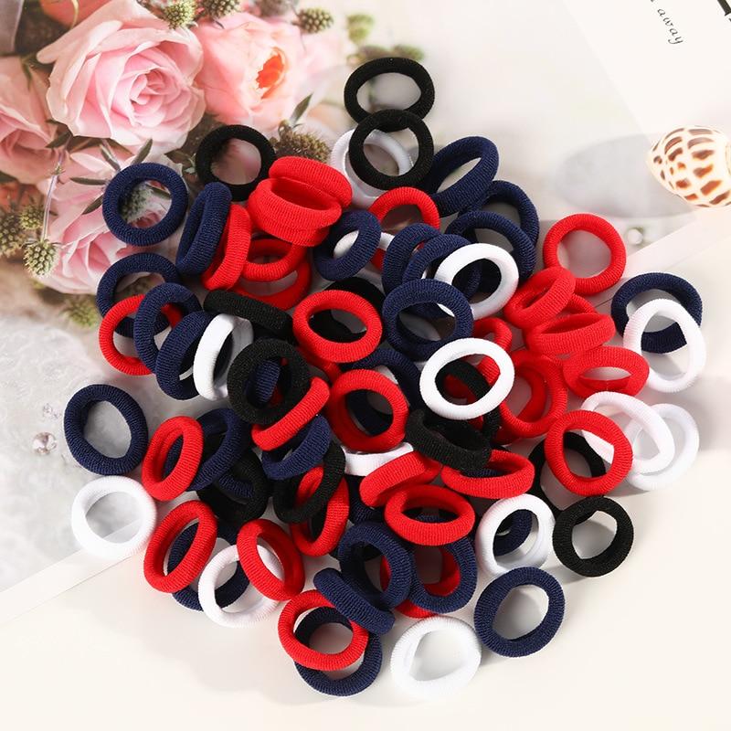 Dziewczęce gumki do włosów dla dzieci zestawy dla dzieci elastyczne opaski do włosów czarny gumowy dziecko gumka uchwyt kucyk fryzjerskie dzieci akcesoria do włosów - aliexpress