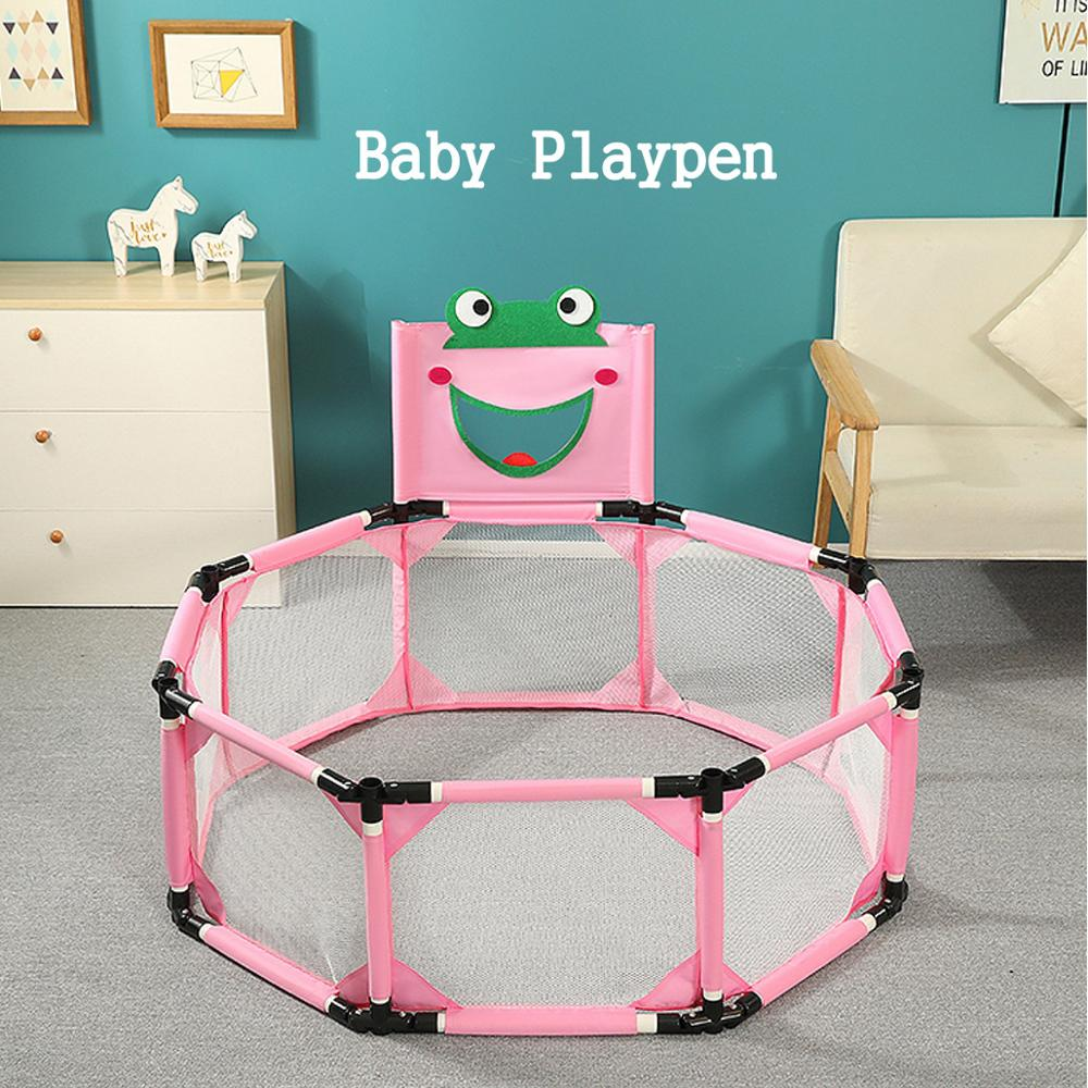 Foldable Portable Baby Playpen Square Children Toddler Kids Safety Fence?Indoor Outdoor Play Pen?Ocean?Portable Ball Pit Pool