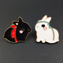 Cute Bunny Enamel Cartoon Pins Brooches Badges Bags Kids Metal Pin Gifts Jewelry Brooch DIY Clothing Hats backpack Jeans