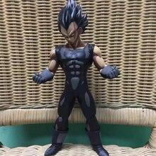Anime Dragon Ball Z Super Saiyan Vegeta Black Comic Ver PVC Action Figure Collectible Model doll toy 28cm pvc cartoon comic doll