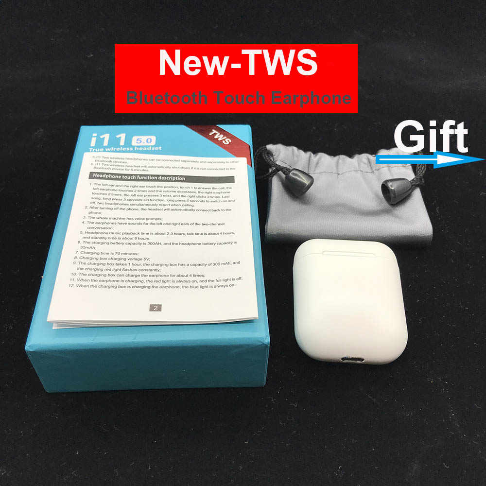 TWS Touch control Mini беспроводной Bluetooth 5,0 стереонаушники с микрофоном Pk I10 I11 Tws для IOS Смартфон Xiaomi