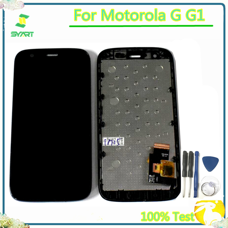 100% Tested For Moto G G1 LCD Display With Touch Screen Digitizer Assembly With Frame For Motorola Moto G G1 XT1032 XT1033