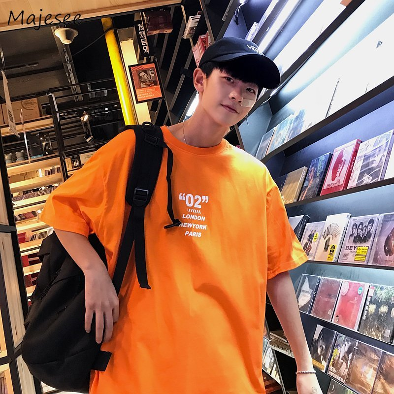 T-shirts Men O-Neck Printed Loose Harajuku Summer Short Sleeve Leisure Daily Tees Mens Soft Hip Hop Breathable Couples Tops Chic
