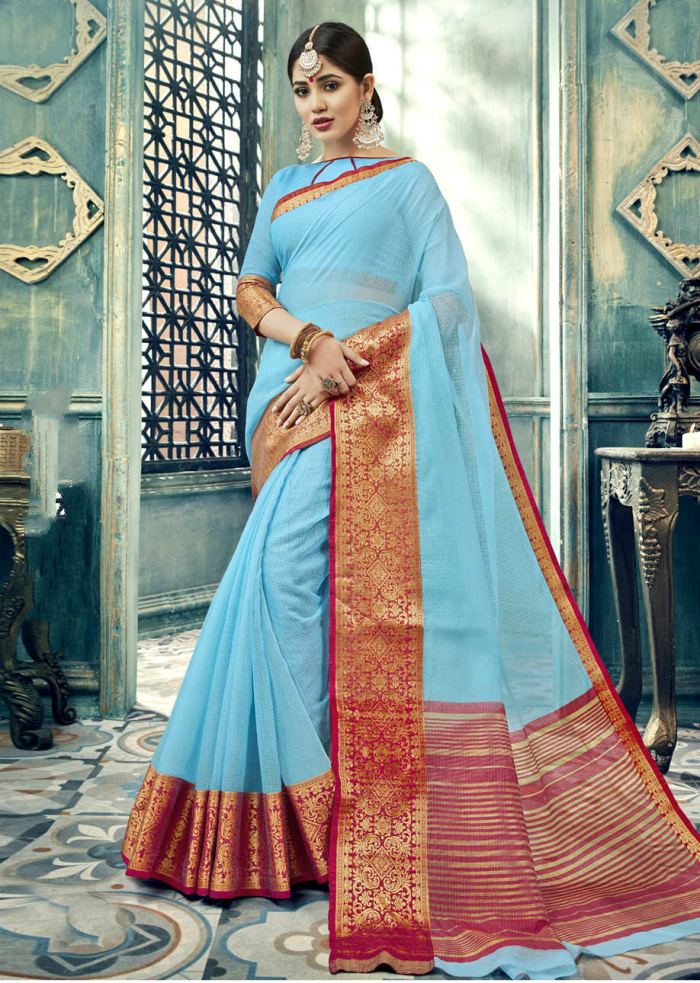 India Sarees Traditional Clothing Costume Ethnic Style Woman Performance Dance Suits Cotton Silk Sari Blouse Ladies Asian Cloth