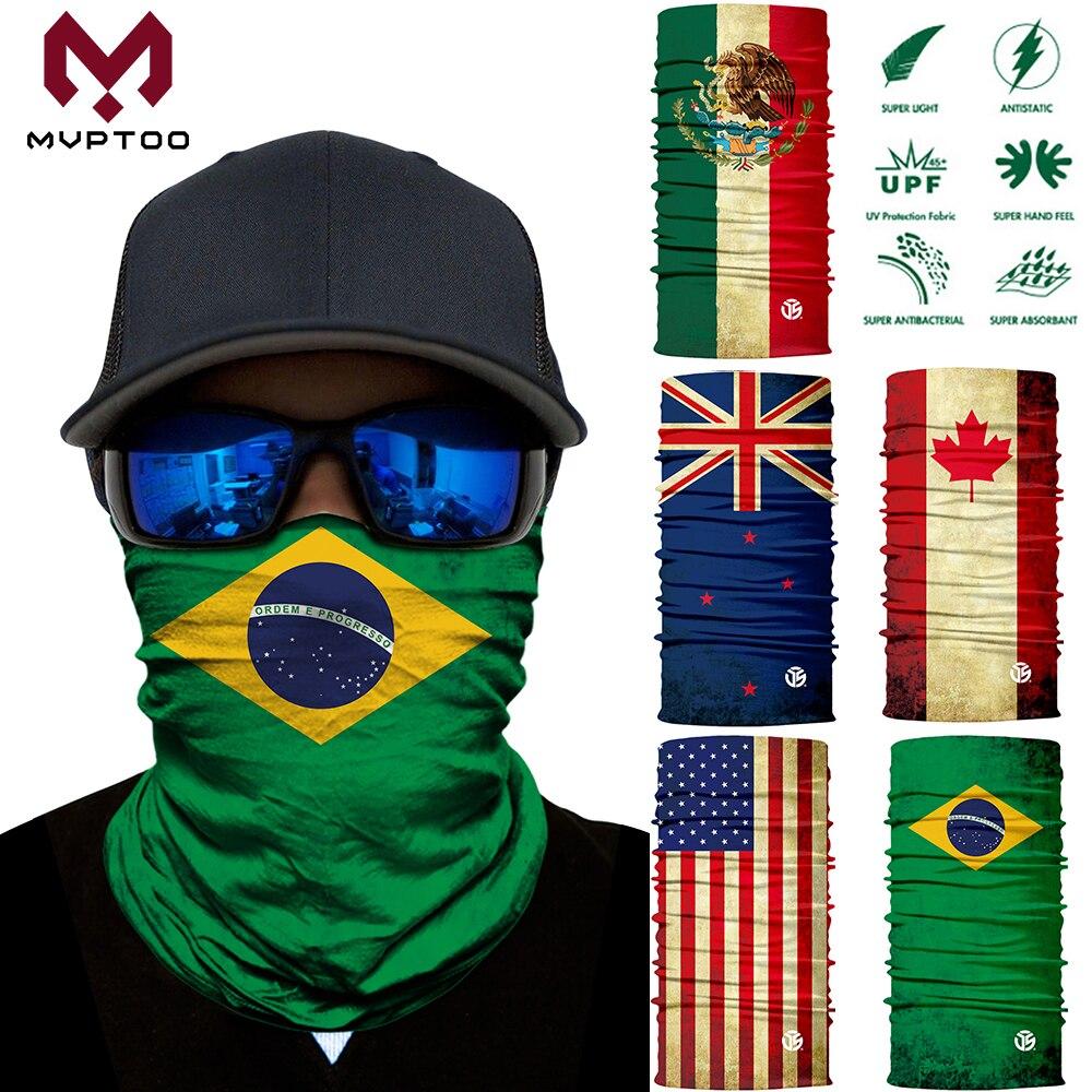 3D National Flag Seamless Motorcycle Magic Face Mask Motocross Skiing Riding Scarf Tubular Neck Guard Balaclava Bandana Anti-UV
