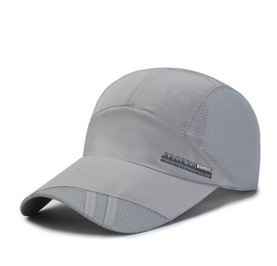LJ104 Zomer Mannen Vrouwen Zonneklep Baseball Cap Hoed Effen Kleur Mode Verstelbare Caps