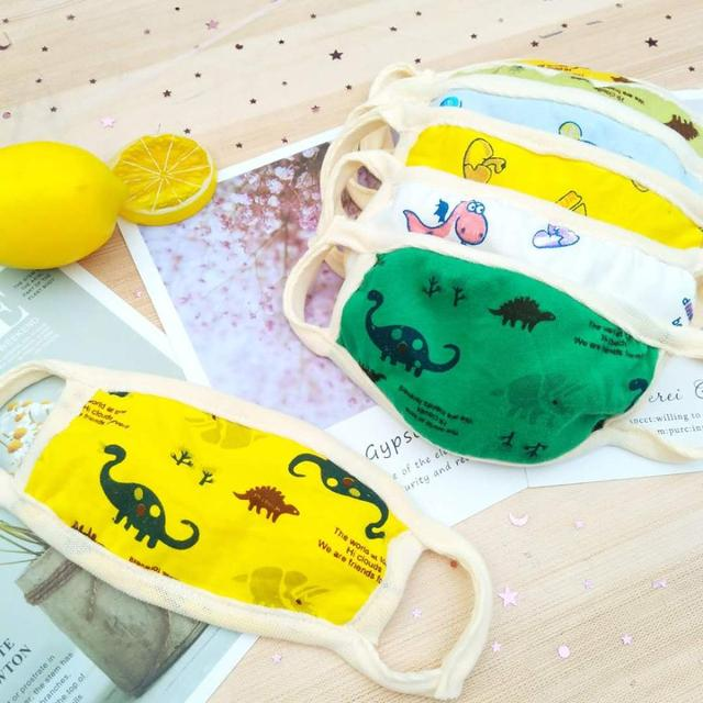 3/5pcs face mask for kids Reusable facemask Anti-Dust Mouth Respirator boys girls washable face mask baby face protection masque 1