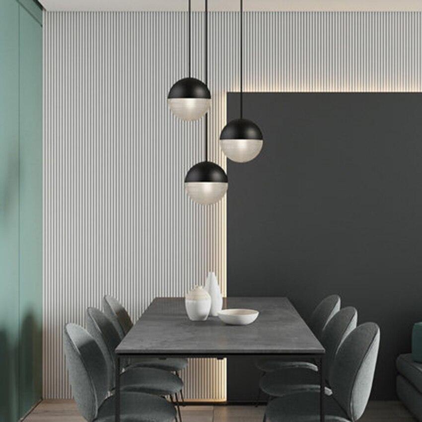 Postmodern LED Glass Pendant Lights Lighting Nordic Cafe Loft Living Room Lamp Restaurant Bedroom Bedside Decor Light Fixtures