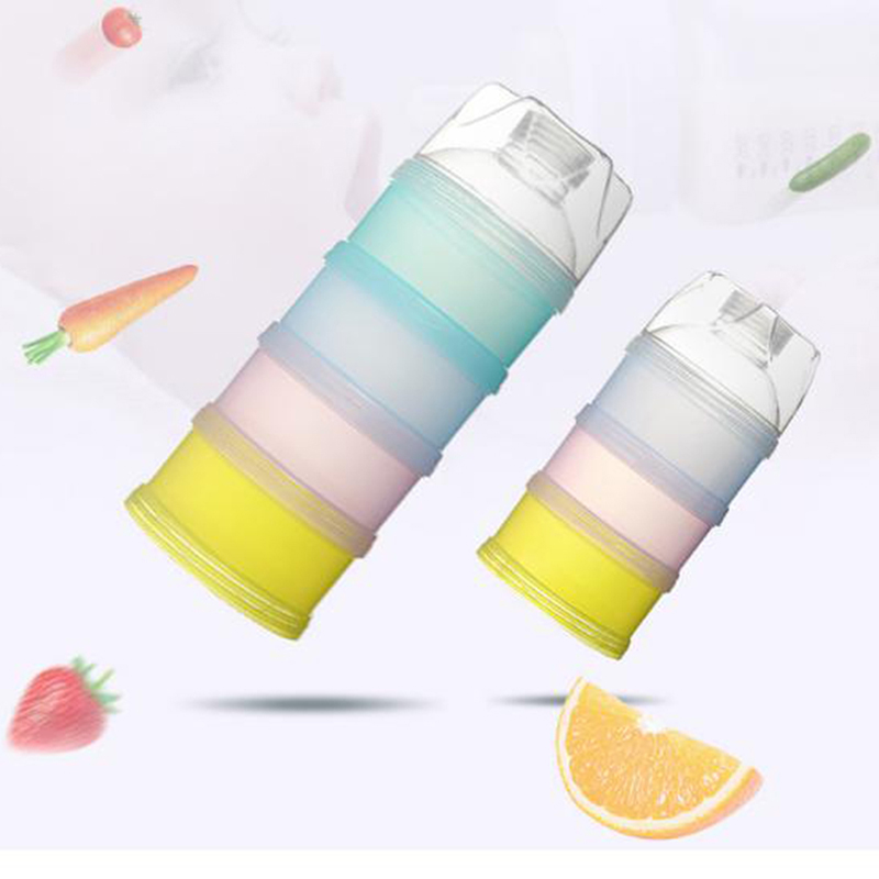 3 Layer/4 Layer Portable Baby Food Storage Box Essential Cereal Milk Powder Boxes Toddle Kids Formula Milk Container