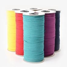 1 rolka 3mm szycie gumką kolorowe wysokie elastyczne Fiat gumką na ubrania pas biodrowy rozciągliwa linka elastyczna wstążka do włosów tanie tanio CN (pochodzenie) polyester Support