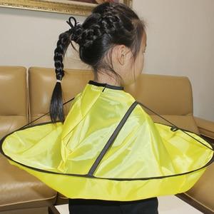 1 capa de corte de pelo plegable capa de paraguas bata de corte de pelo impermeable delantal herramienta para niños adultos accesorio de peinado para el hogar