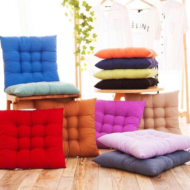 Almohadas para sillas cojín para asiento o piso Thicken Tatami silla cojines de Color sólido hogar decorativo sofá almohadas nuevo