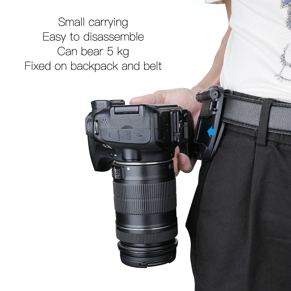Capture Clip for DSLR Mirrorless Camera Camera Quickly Clip to Waist Belt or Backpak Strap with Anti-Twist Arca Swiss Compatible Quick Release Plate