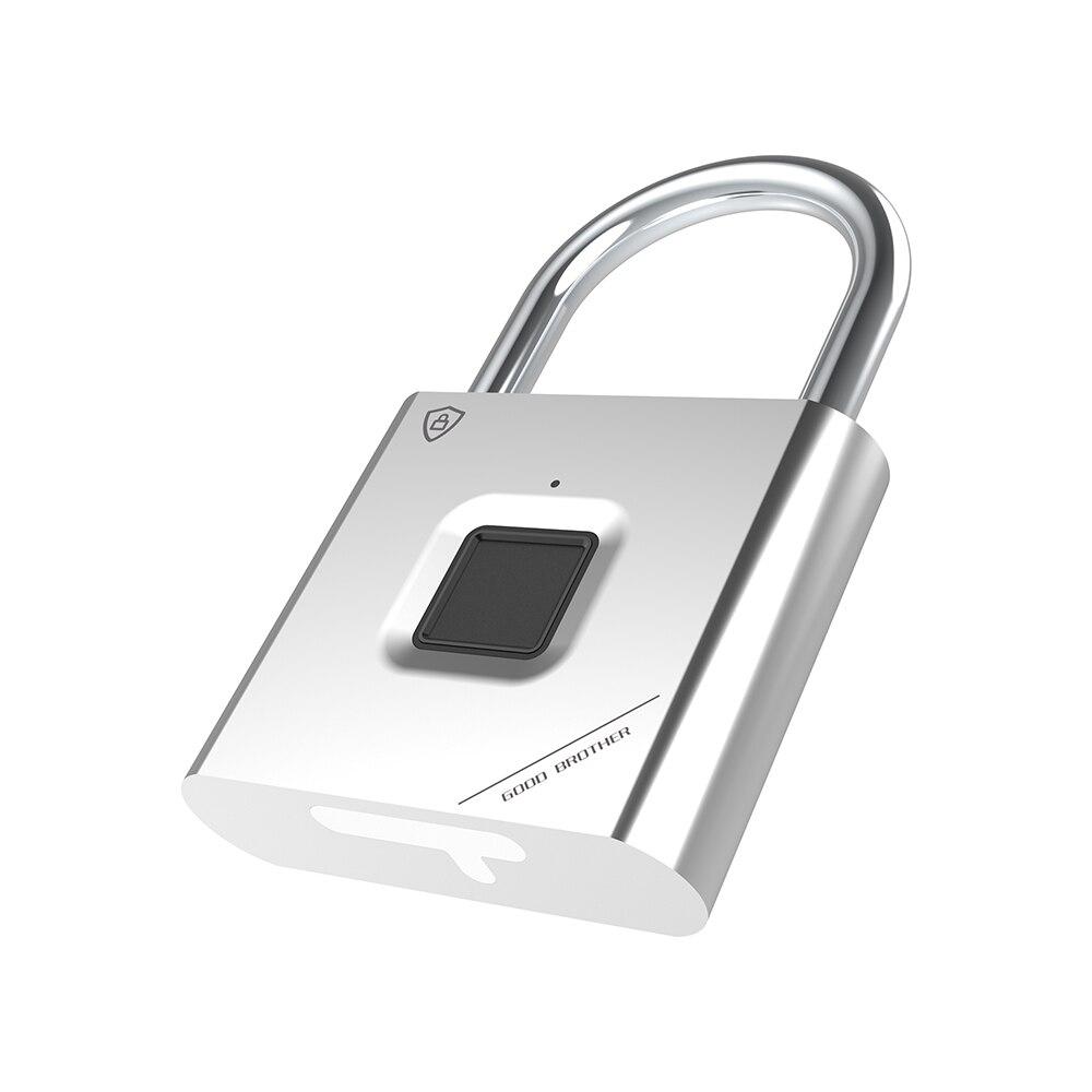 Thumbprint Door Padlocks Rechargeable Door Lock Fingerprint Smart Padlock Quick Unlock Keyless USB