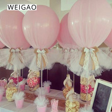 WEIGAO Balloon Tulle Roll Ribbon Wedding Decoration Balloons Organza Lace Kids Birthday Party Decor Baby Shower