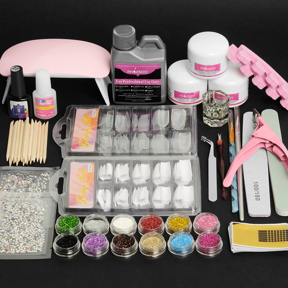 Набор для акриловых ногтей, набор для маникюра, набор для акриловых ногтей, профессиональные принадлежности для ногтей, набор для акриловых...