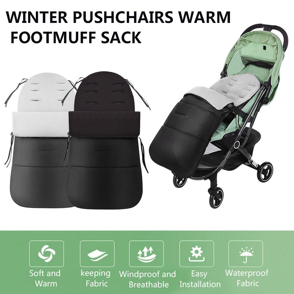 Baby Stroller Sleeping Bag Foot Muff Windproof Down Cotton Warm Keeping Sleeping Bag For Winter Most Strollers In Stock