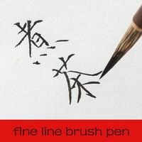 3 pçs chinês meticuloso pintura pincel conjunto pintura caligrafia pincel caneta linha fina chinesa pintura pincel caneta tinta china