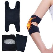 1 par de auto-aquecimento cotovelo apoio almofada elástica braço artrite protetor cinta ginásio soprting cotovelo almofadas braço protetor de cuidados de saúde
