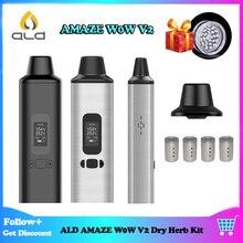 ALD AMAZE W0W V2 Dry Herb Vape Kit 1800mAh Electronic Cigarettes with OLED Display and Vibrating alert herbal vaporizer