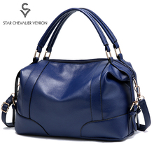 цена SCV Simple Women Shoulder Messenger Bag Fashion Mommy Handbags Retro PU Leather Ladies Crossbody Bag Large Tote Women Hand Bags онлайн в 2017 году